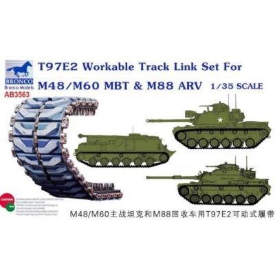 SET ORUGAS T97E2 PARA M-48 / M-60 PATTON -Escala 1/35- Bronco Model AB3563