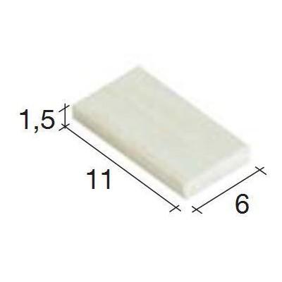 TEJADILLO CLARO (300 UNIDS) 11x6x1.5mm