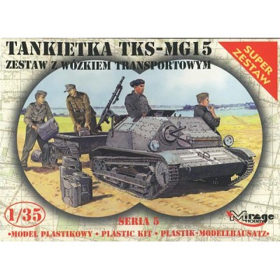 TANQUETA TKS-MG 15 Y TRAILER - ESCALA 1/35 - MIRAGE 35515