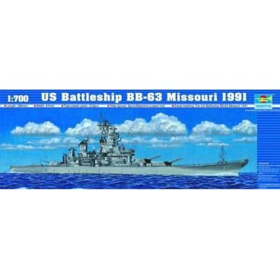 ACORAZADO U.S.S. MISSOURI BB-63 (1991) -Escala 1/700 - Trumpeter 05705