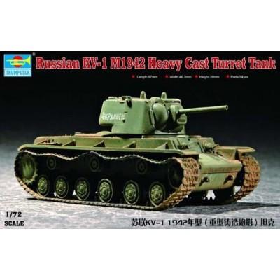 CARRO DE COMBATE KV-1 Mod. 1942 (Heavy cast turret) -Escala 1/72- Trumpeter 07231