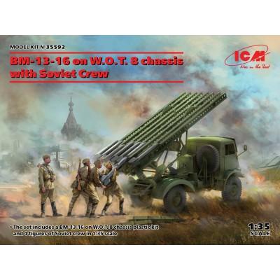 CAMION W.O.T. 8 & Sistema de cohetes BM-13-16 & DOTACION -1/35- ICM 35592