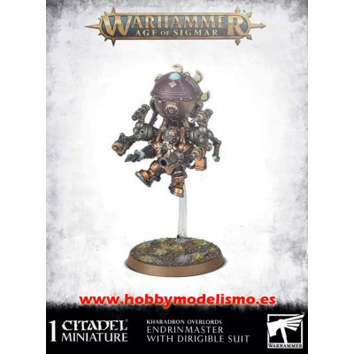 KHARADRON ENDRINMASTER IN DIRIGIBLE SUIT - GAMES WORKSHOP 84-42