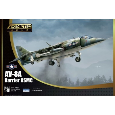 McDONNELL DOUGLAS AV-8A HARRIER (U.S. Marines) -Escala 1/48- Kinetic K48072