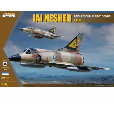 IAI NESHER (Monoplaza / Biplaza) 2 en 1 -Escala 1/48- Kinetic K48056