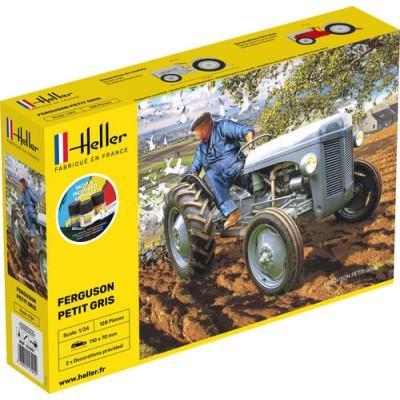 TRACTOR FERGUSON PETIT GRIS (Pegamento & pinturas) -Escala 1/24- Heller 57401