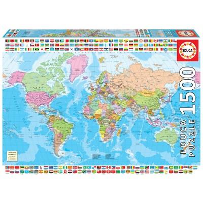 PUZZLE 1500 PZS MAPAMUNDI POLITICO - EDUCA 18500