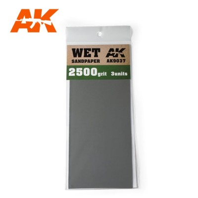 WET SANDPAPER GRANO 2500 (3 UNIDS) AK 9037