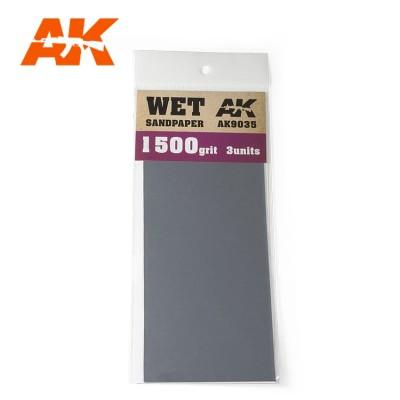 WET SANDPAPER GRANO 1500 (3 UNIDS) AK 9035