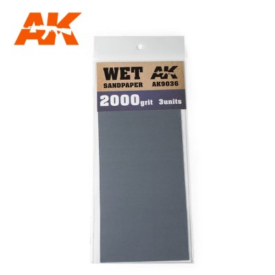 WET SANDPAPER GRANO 2000 (3 UNIDS) AK 9036