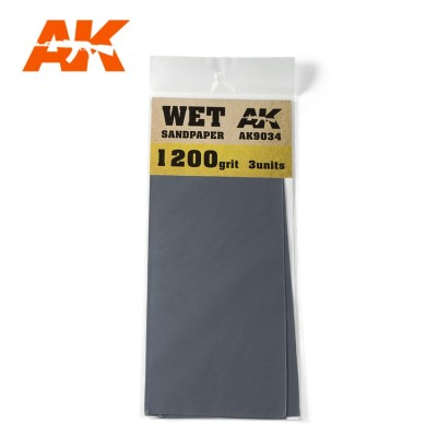 WET SANDPAPER GRANO 1200 (3 UNIDS) AK 9034