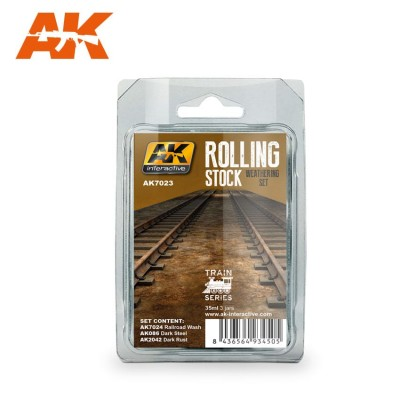 SET WEATHERING ROLLING STOCK - AK 7023