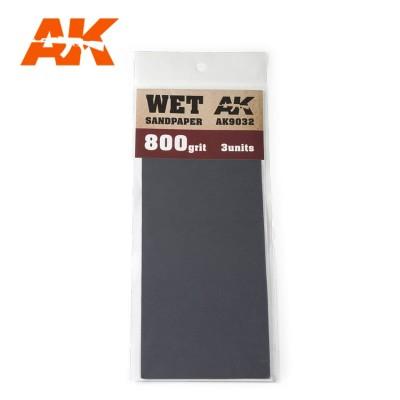WET SANDPAPER GRANO 800 (3 UNITS) AK 9032