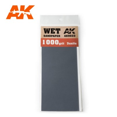 WET SANDPAPER GRANO 1000 (3 UNIDS) AK 9033