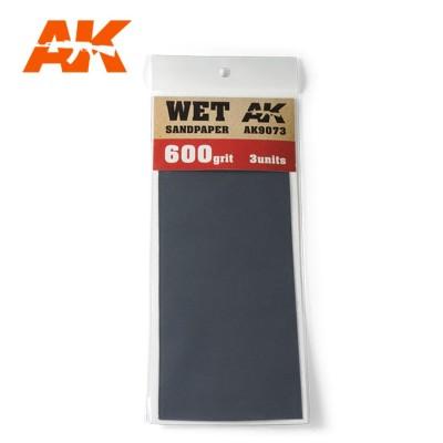 WET SANDPAPER GRANO 600 (3 UNIDS) AK 9073