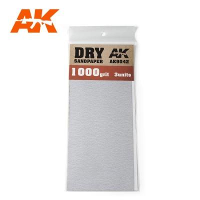 DRY SANDPAPER GRANO 1000 (3 UNIDS) AK 9042