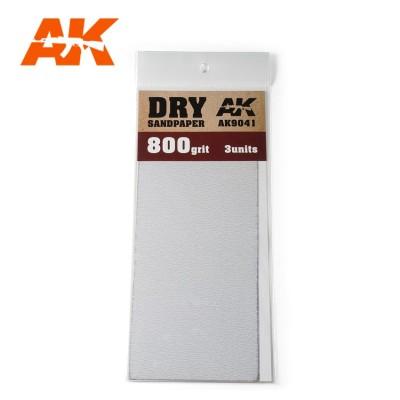 DRY SANDPAPER GRANO 800 (3 UNIDS) AK 9041