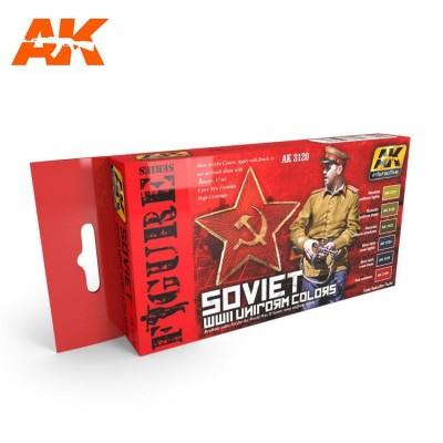 FIGURE series: WW II SOVIET UNIFORM COLORS - AK 3210