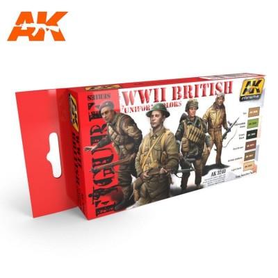 FIGURE series: WW II BRITISH UNIFORM COLORS - AK 3240