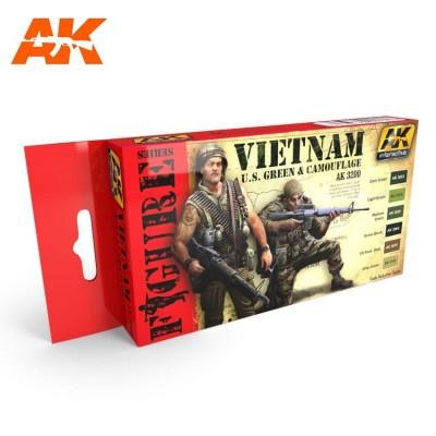 FIGURE series: MODERN UNIFORM VIETNAM U.S. Green & CAMOUFLAGE - AK 3200