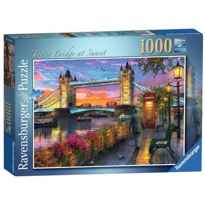 PUZZLE 1000 pzas TOWER BRIDGE AL ATARDECER - Ravensburguer 15033