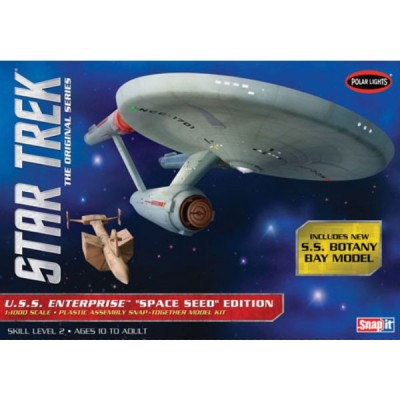 STAR TREK USS ENTERPRISE ORIGINAL SERIES - ESCALA 1/1000 - INCLUYE SS BOTANY BAY SHIP (LONG.28 cms)