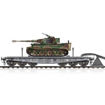 VAGON PLATAFORMA Type SSyms 80 & CARRO DE COMBATE Sd.Kfz. 181 Ausf.E (Mid.) TIGER I -Escala 1/72- Hobby Boss 82934
