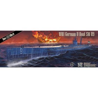 SUBMARINO SM U9 (Primera Guerra Mundial) -Escala 1/72- Das Werk DW72001