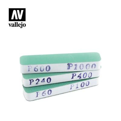 SET LIJAS FLEXIBLES DOBLE CARA -Preparacion pintado- (90 x 19 x 12 mm) - Acrilicos Vallejo T04002