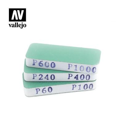SET LIJAS FLEXIBLES DOBLE CARA -Eliminacion grietas- (80 x 30 x 12 mm) - Acrilicos Vallejo T04004
