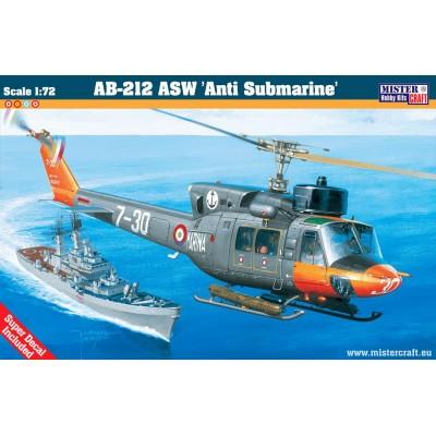 AUGUSTA BELL AB-212 ASW C/ESP -Escala 1/72 - MISTER CRAFT D-57