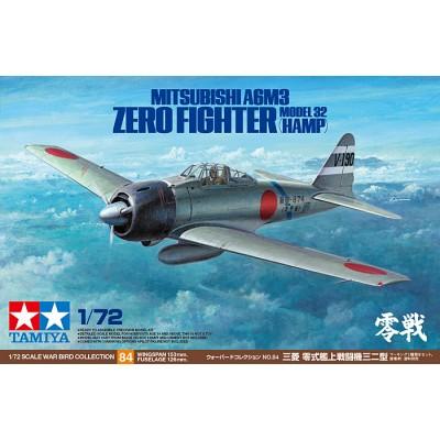 MITSUBISHI A6M3 Model 32 (HAMP) ZERO -Escala 1/72- Tamiya 60784