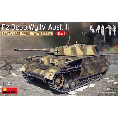 CARRO DE COMBATE Sd.Kfz. 161 Ausf. J (Late) Mando & Tripulantes -Escala 1/35- MiniArt Models 35344