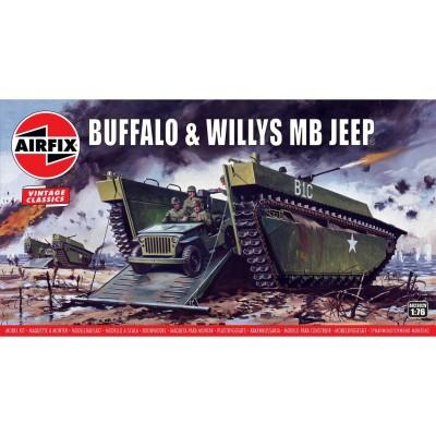 VEHICULO ANFIBIO LVT-4 & JEEP Vintage Classics -Escala 1/76- Airfix A02302V