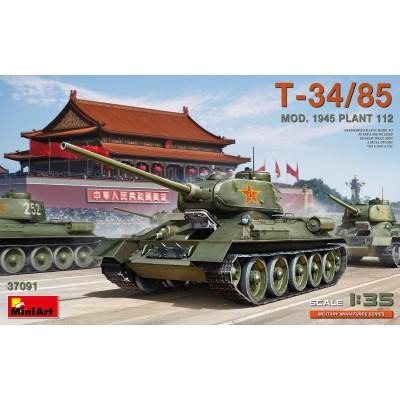 CARRO DE COMBATE T-34/85 Mod. 1945 Plant. 112 -Escala 1/35- MiniArt Models 37091