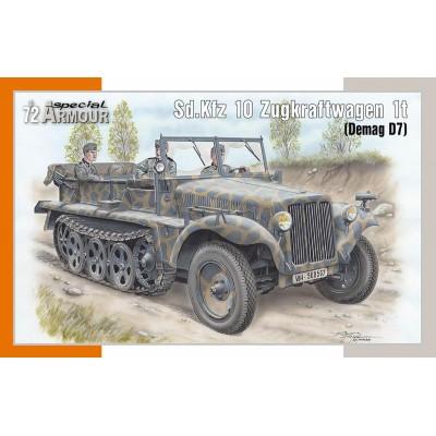 SEMIORUGA Sd.Kfz 10 Zugkraftwagen 1t (Demag D7) -Escala 1/72- Special Armour SA72021