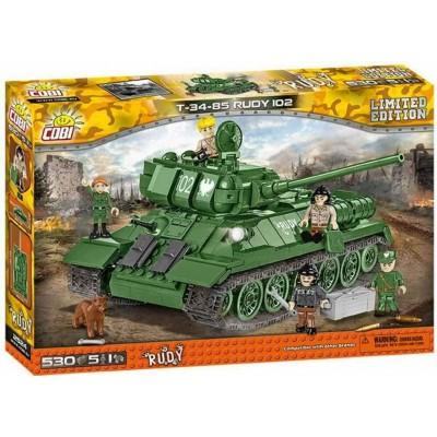 """CARRO DE COMBATE T-34/85 """"RUDY 102"""" (530 Pzs) - COBI 2524"""