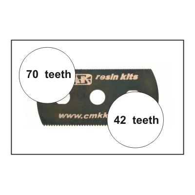HOJA DE SIERRA SUAVE (42 dientes / 70 dientes) 5 unidades - CMK H1004