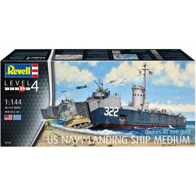 US NAVY LANDING SHIP MEDIUM / ESCALA 1/144