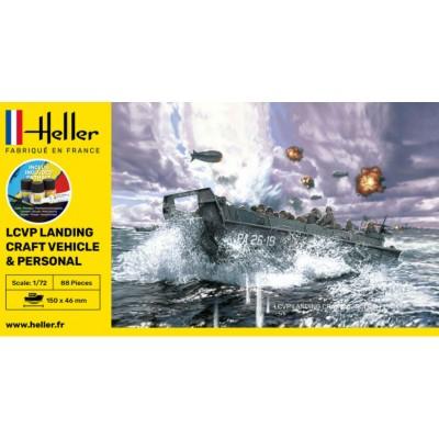 LANCHA DESEMBARCO LCVP HIGGINS (Pegamento & pinturas) -Escala 1/72- Heller 56995