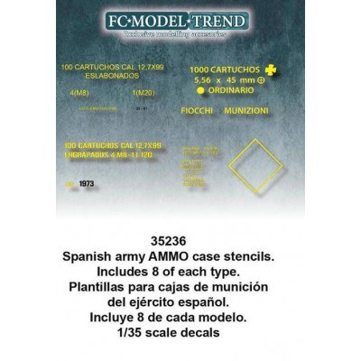 CAJAS DE MUNICION EJERCITO ESPAÑOL -Escala 1/35- FC Modeltips 35236