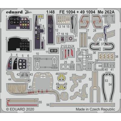 FOTOGRABADOS Me-262 A -Escala 1/48- Eduard 491094