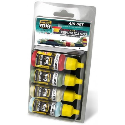 Air Set: COLORES AVIACION REPUBLICANA (4 botes x 17 ml) - A.Mig 7227