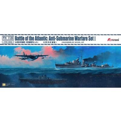 SET BATALLA DEL ATLANTICO (Guerra AntiSubmarina) -Escala 1/700- FlyHawk Model FH1120