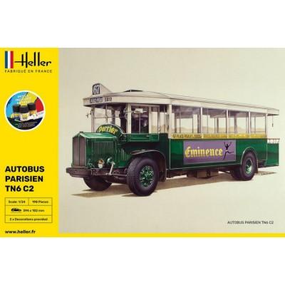 AUTOBUS RENAULT TN6 C2 PARISIEN (Pegamento & pinturas) -Escala 1/24- Heller 56789