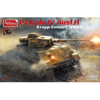 CARRO DE COMBATE PANZER IV Ausf. H Krupp Entwurf W1466 -Escala 1/35- Amusing Hobby 35A037