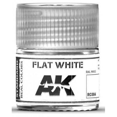 PINTURA REAL COLORS BLANCO MATE (10 ml) - AK RC004