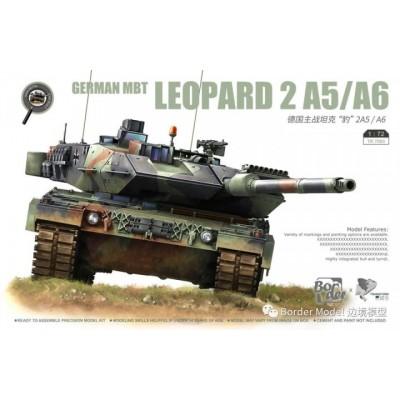 CARRO DE COMBATE LEOPARD 2 A5/A6 -Escala 1/72- Border Model BT-7201
