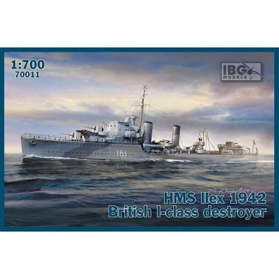 DESTRUCTOR Clase I H.M.S. ILEX 1942 -Escala 1/700- IBG 70011