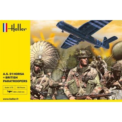 AIRSPEED A.S. 51 HORSA MK-I & PARACAIDISTAS BRITANICOS -Escala 1/72- Heller 30313